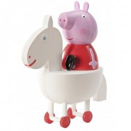 Figura Peppa Pig a Cavallo