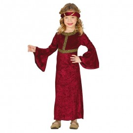 Costume da Dama Medievale Elegante Bambina