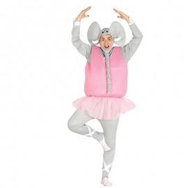 Costume da Elefante Ballerino con Tutù per Adulto