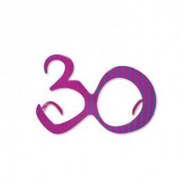Occhiali per Compleanno Numero 30