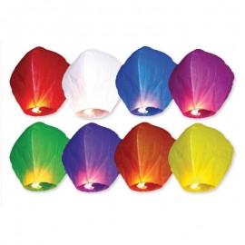10 Lanterne Volanti Colori Assortiti