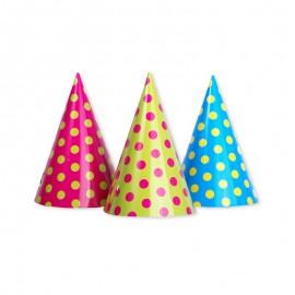 6 Cappelli di Carta con Pois