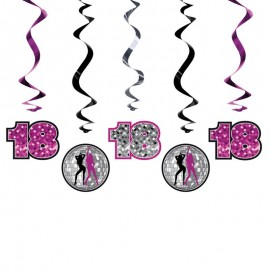 5 Decorazioni Appese 18 Compleanno Olografiche