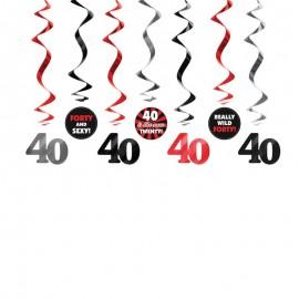 7 Decorazioni Appese 40 Compleanno