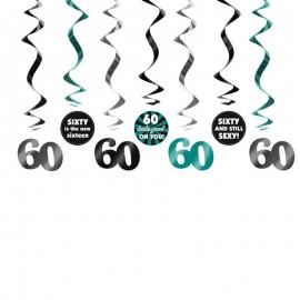 7 Decorazioni Appese 60 Compleanno