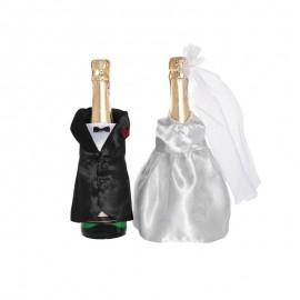 2 Copribottiglie Champagne forma Sposi
