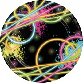 8 Piatti Glow Party 18 cm
