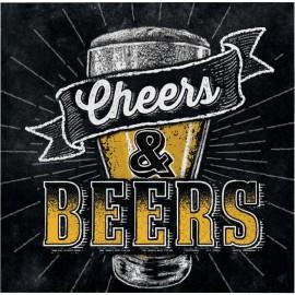 16 Tovaglioli Festa della Birra 25 cm