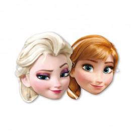 6 Maschere Frozen Elsa e Anna