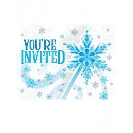 8 Inviti con Fiocchi di Neve