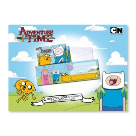 6 Inviti con Busta Adventure Time