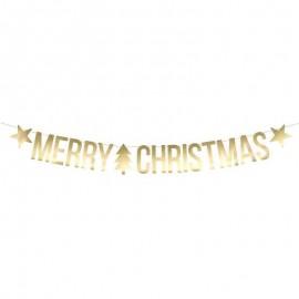 Banner Merry Christmas Dorato 10.5x150 cm