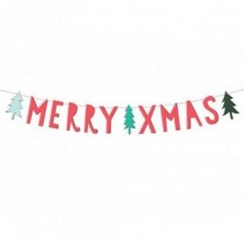 Banner Merry Xmas 12x120 cm