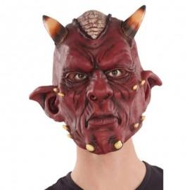 Maschera da Diavolo con Corna di Lattice