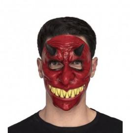 Mezza Maschera da Diavolo con Dentini