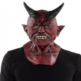 Maschera da Diavolo con Corna Giganti