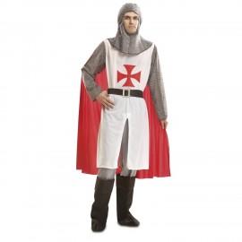 Costume da Cavaliere Medievale con Mantello per Adulti
