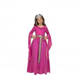 Costume da Principessa Medievale Rosa per Bambini