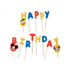 Candele Happy Birthday Topolino
