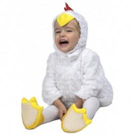 Costume da Pulcino Bianco di Peluche per Bambini