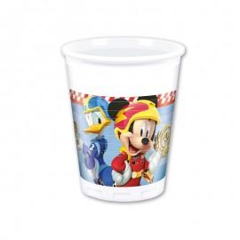 8 Bicchieri Mickey Pilota 200 ml