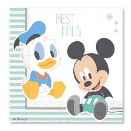 20 Tovaglioli Baby Mickey 33 cm
