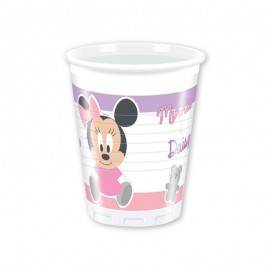 8 Bicchieri Baby Minnie 200 ml