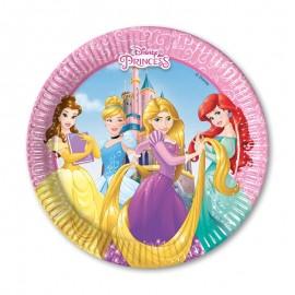 8 Piatti Principesse Disney 20 cm