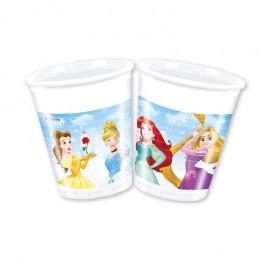 8 Bicchieri Principesse Disney 200 ml