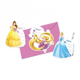 6 Inviti Principesse Disney