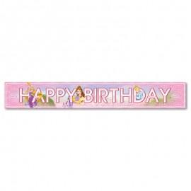 Striscione Principesse Disney Happy Birthday