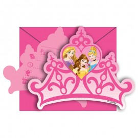 6 Inviti Principesse Dream Disney