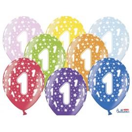 Palloncini Numero 1 Rotondi 32 cm