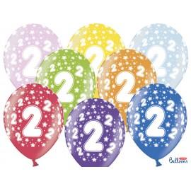Palloncini Numero 2 Rotondi 32 cm