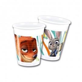 8 Bicchieri Zootropolis 200 ml