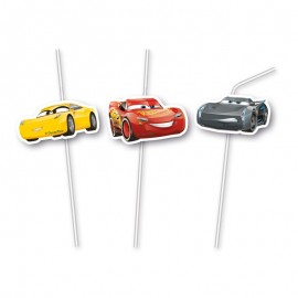 6 Cannucce Medaglione Cars 3