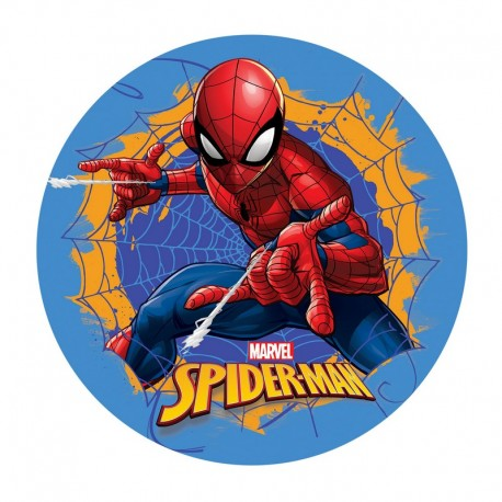 Disco Cialda per Torta Spiderman 20Cm