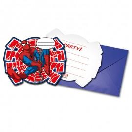 6 Inviti Festa Spiderman