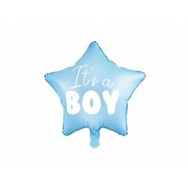 Palloncino a forma di stella Its a Boy Foil 45cm