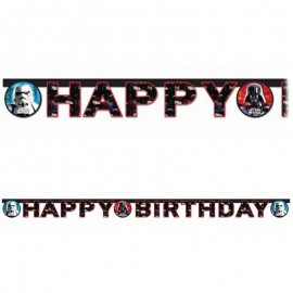 Festone Happy Birthday Star Wars