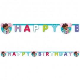 Festone Happy Birthday Dottoressa Peluche