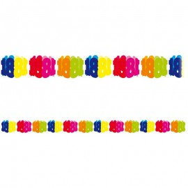 Festone di carta numero 18 multicolor 6 m