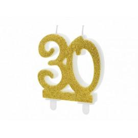 Candela Nº 30 con Brillantini Dorati