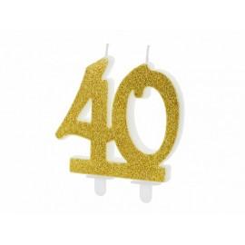 Candela Nº 40 con Brillantini Dorati