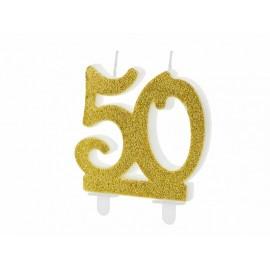 Candela Nº 50 con Brillantini Dorati