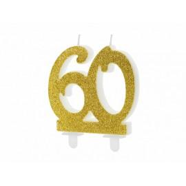 Candela Nº 60 con Brillantini Dorati