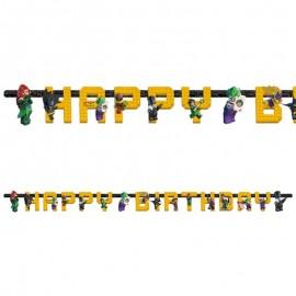 Festone Lego Batman Happy Birthday 180 x 15 cm