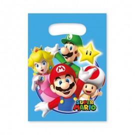 8 Sacchetti Mario Bros per Caramelle con Manico