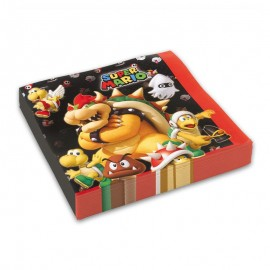 20 Tovaglioli Mario Bros 33 cm