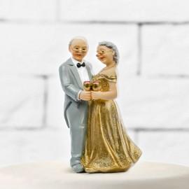 Sagoma di Sposi per Matrimonio in Argento
